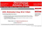 ..:: Otorohanga Athletics Club ::..